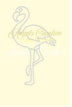 Hotfix rhinestone applicatie flamingo SS10