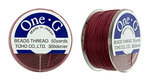 TOHO one-G Thread, 50 yard, Burgundy