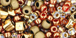 TOHO Multi shape, color mix beads. Ocha Bronze mix