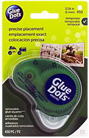 Glue Dots, glue squares, removable, dispenser