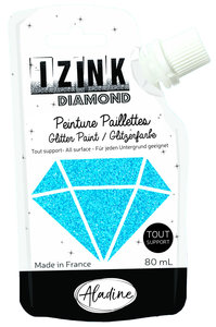 Aladine Izink Diamond glitter paint, sky blue