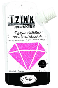 Aladine Izink Diamond glitter paint, hot pink