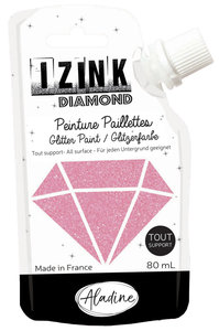 Aladine Izink Diamond glitter paint, rose