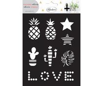 Aladine adhesives stencil love, 2 sheets
