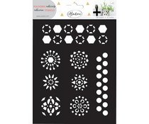Aladine adhesives stencil hexagons, 2 sheets