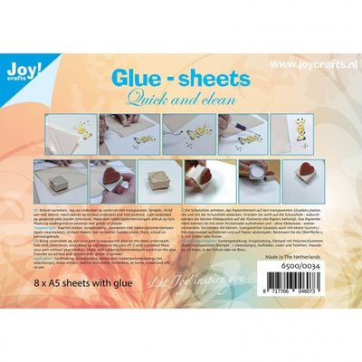 Joy Crafts lijmvellen A5 micro dots, 8 vellen