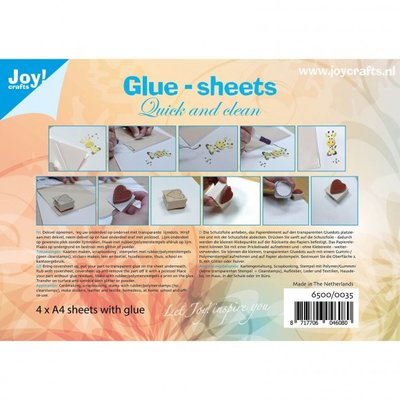 Joy Crafts lijmvellen A4 micro dots, 4 vellen