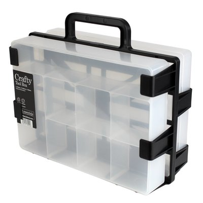 Weston Boxes, Draagbare box houder, met 1 stuks A4 Storage Box & 1 crafty tool box, Clear