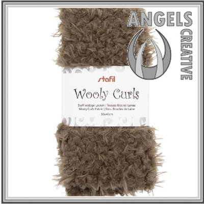 Wooly curls fabric Brown