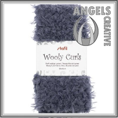Wooly curls fabric Grey