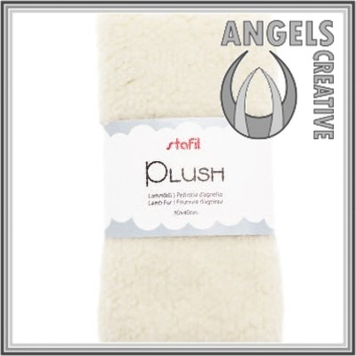 Plush, lamsvel wit