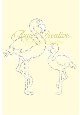 Hotfix rhinestone applicatie flamingo SS06 & SS10