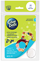 Glue Dots permanent, XL lijmdots, 25 mm, 60 stuks