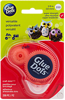 Glue Dots, extra sterk, craft, 10 mm, 200 stuks, dispenser
