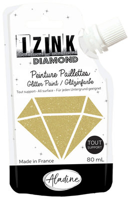 Aladine Izink Diamond glitter paint, gold