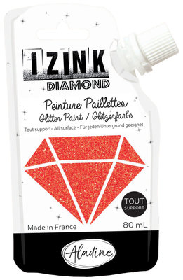 Aladine Izink Diamond glitter paint, red