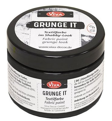 Viva grunge it, black, zwart, 150 ml