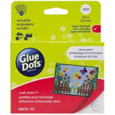 Glue Dots, extra sterk, craft, 13 mm, 600 stuks, value pack