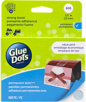 Glue Dots, permanent,  13 mm, 600 stuks, value pack
