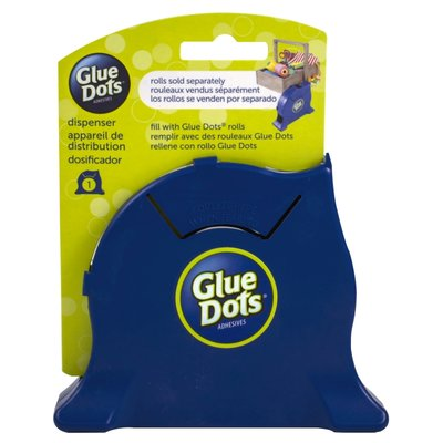 Glue Dots, Desktop Dispenser, Blue