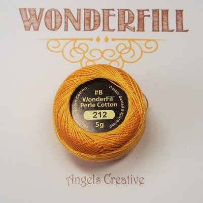 Wonderfill Eleganza No8 Pearl cotton, yellow