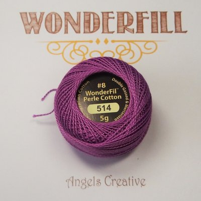 Wonderfill Eleganza No8 Pearl cotton, paars