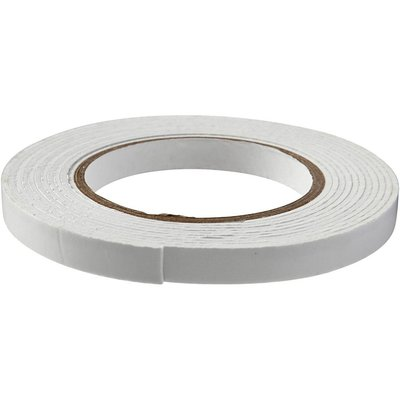 3D foam tape, b: 12 mm, dikte 2 mm, 5m