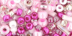 TOHO Multi shape, color mix beads. Sakura Cherry mix