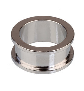 Ring dubbel, platinum, 18.5 mm