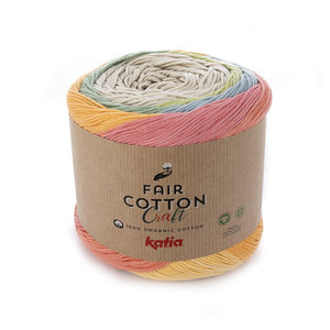 Katia, Fair Cotton Craft, Beige, Pistache, Koraal, Groen , Blauw